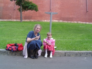 Enjoying Ice Cream - Outside The Kremlin